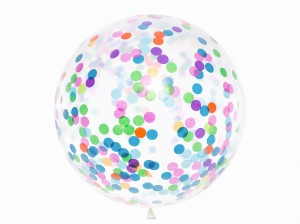 balon z KONFETTI 1m mix