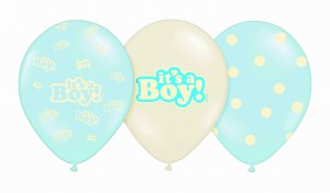 balony BABY SHOWER It's a Boy 30 cm (3szt)