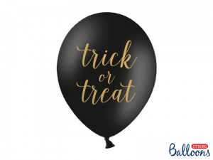 balony na halloween Trick or Treat 30 cm (1szt)