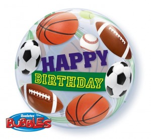 balon urodzinowy Happy Birthday SPORT 55 cm